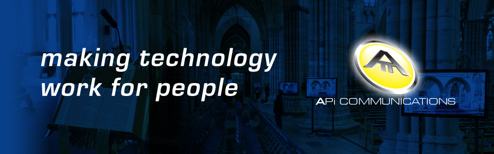 Church Sound Systems making technology work for people with APi Communications Header