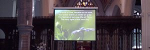 church sound systems projection & display header