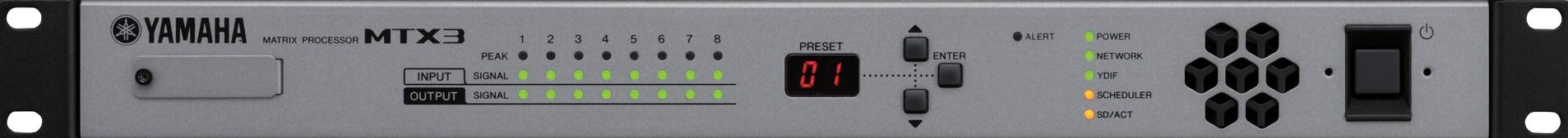 yamaha processor mtx3 front