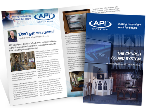 Sign up to Church Sound Systems database and get a FREE pdf download The Church Sound System - An advice sheet from APi Sound & Visual